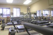 Reformer room for group classes